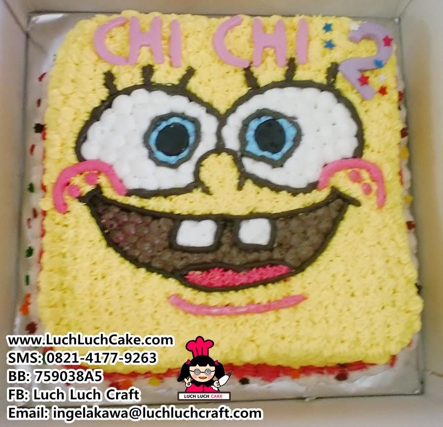 Kue Tart Hantaran Spongebob Daerah Surabaya - Sidoarjo