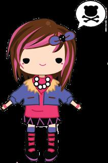 doodles punk girl, doodle cute, doodle comel
