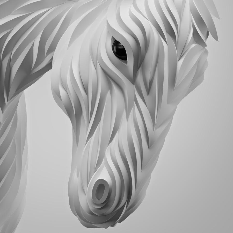 05-White-Horse-Maxim-Shkret-Digital-Origami-Animal-Art-www-designstack-co