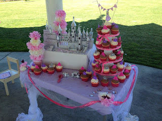 princess party dessert table