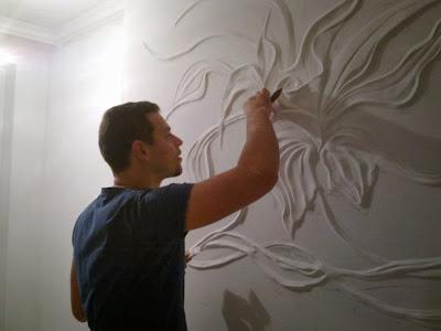 News dumper stunning art ideas in decorating the walls - Paredes de escayola ...