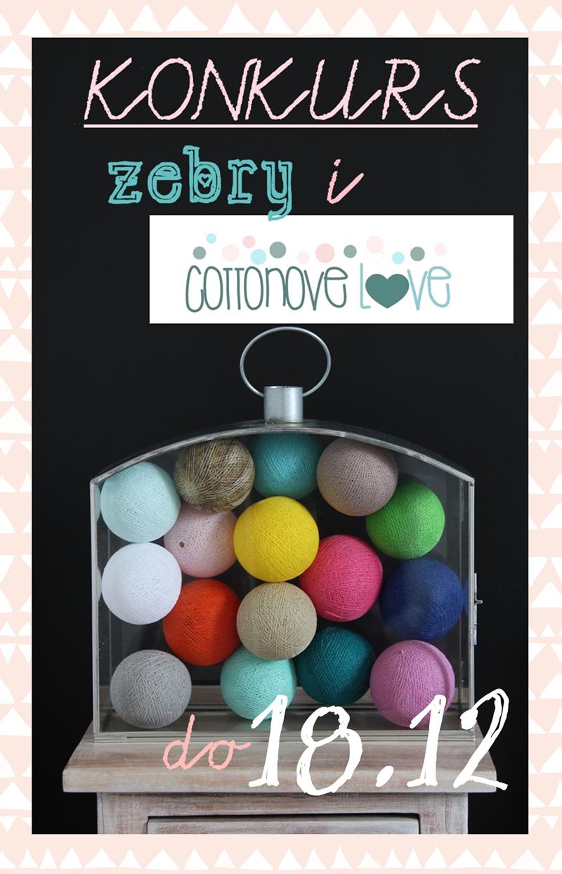KONKURS ZEBRY I COTTONOVE LOVE DO 18.12.2014