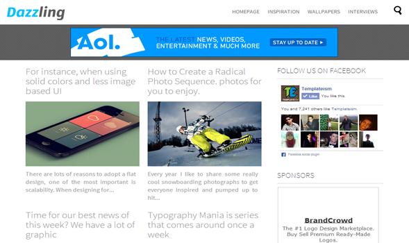 Teknoloji temaları dazzling teknoloji portal blogger teması