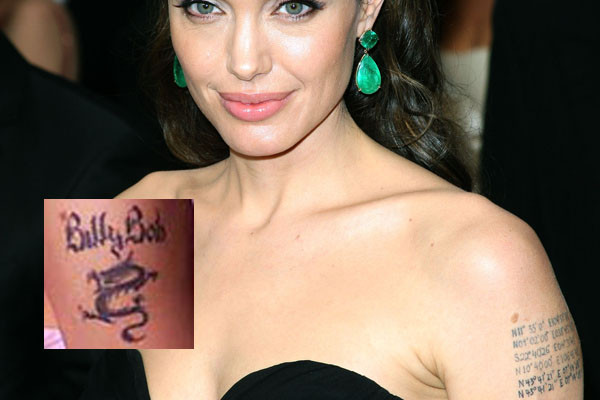 angelina jolie tattoos. angelina jolie