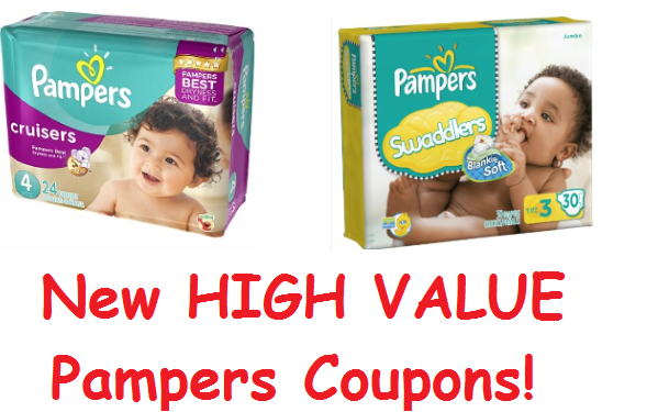 FOUR New $2/1 Pampers Coupons!!  (And $1.50/1 Pampers UnderJams)