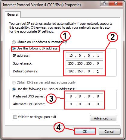 Change my ip address to uk software