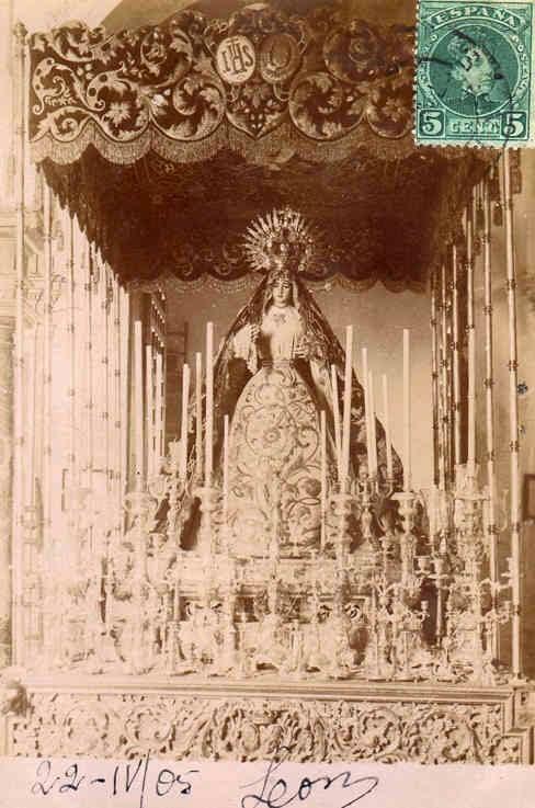 Palio Virgen de la O hermanas Antúnez 1880