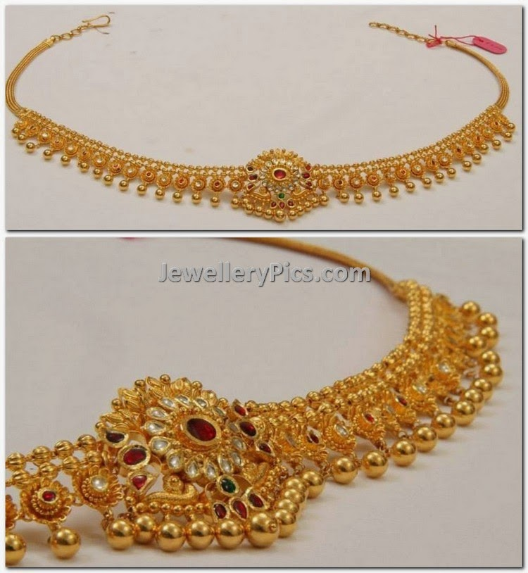 2 in 1 chain model flexible vaddanam design - Latest Jewellery Designs