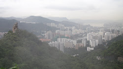 Amah Rock with Shatin in the background.