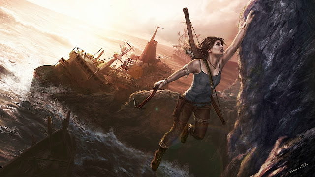 lara croft art wallpapers hd