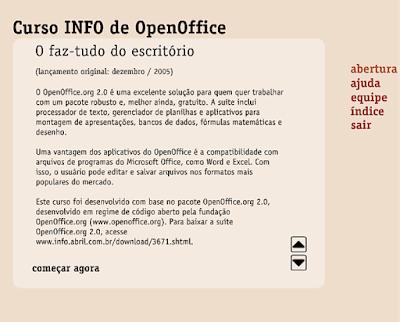 CURSO INFO DE OPENOFFICE ONLINE