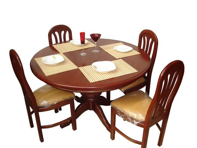 Bricolage trabajos en madera comedores redondos y modernos for Comedores coppel