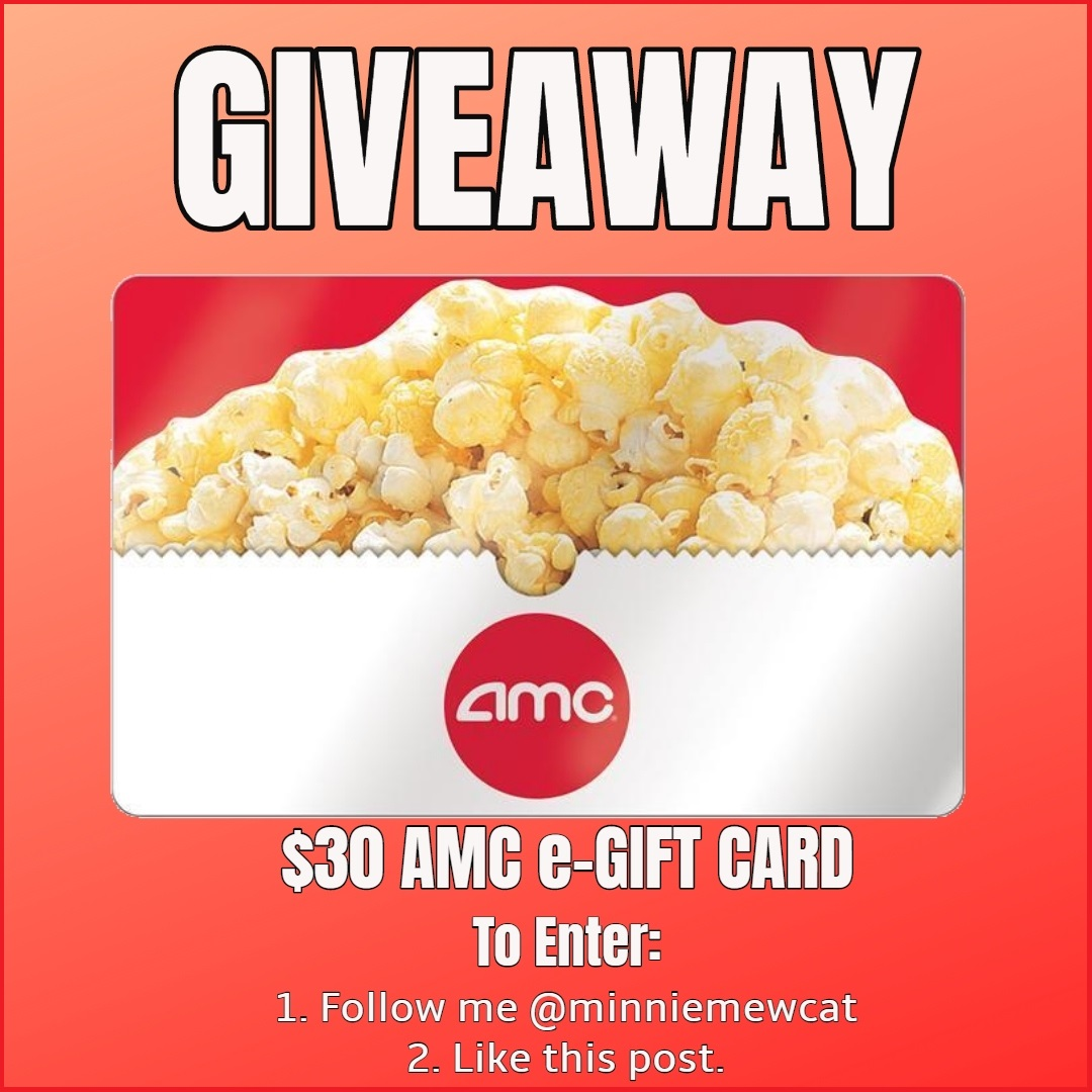 $30 Gift Card AMC Giveaway Ends April 19th!