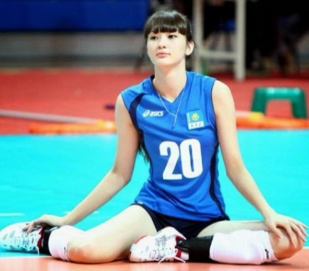 Gambar Cewek Cantik Sabina Altynbekova Pemain Volley Kazakhstan Imut Badan Tinggi