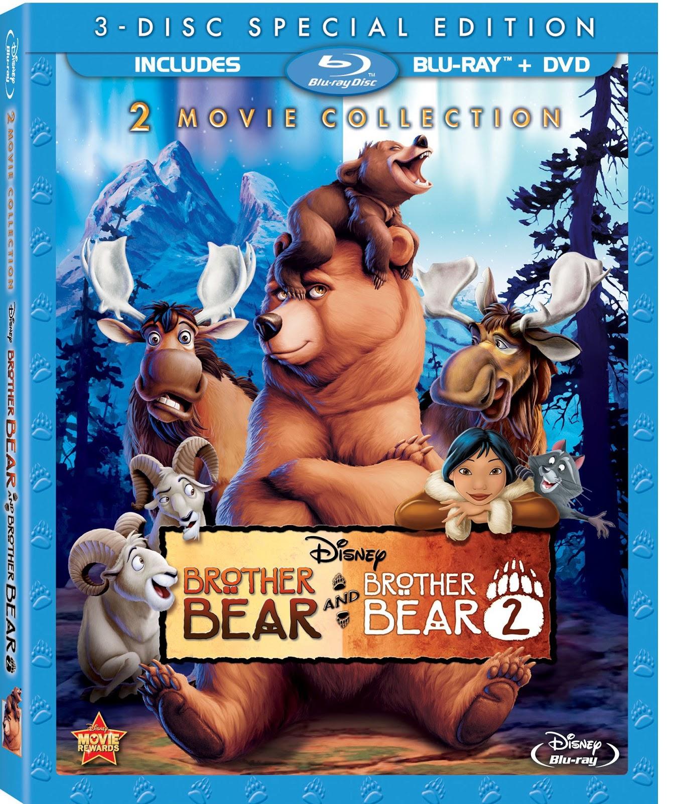 Disney Soul: Portada oficial de Hermano Oso + Hermano Oso 2 (Blu-Ray)