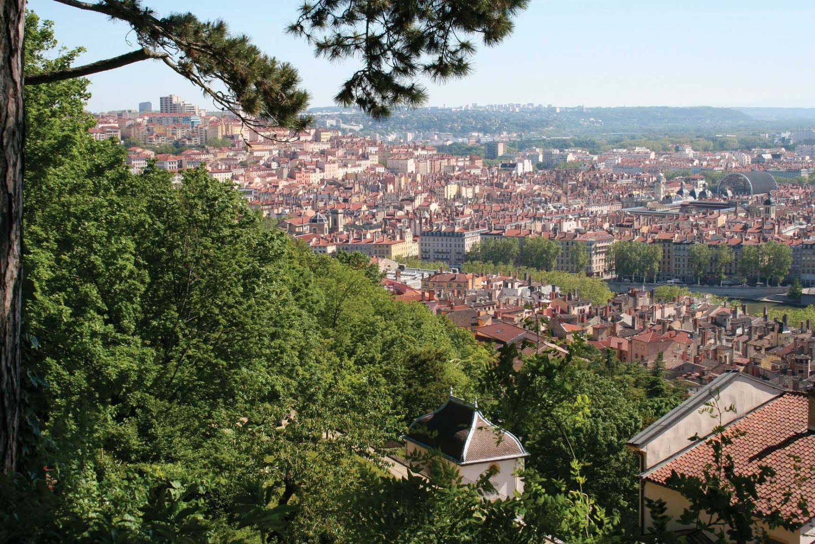 Jardin Rosaire vue panoramique - visite guidée de Lyon - Nicolas Bruno Jacquet