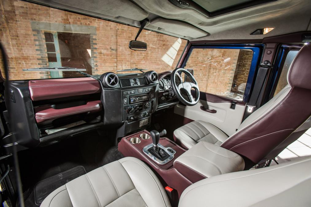 british tuner sends off land rover defender with 475hp upgrade. Black Bedroom Furniture Sets. Home Design Ideas