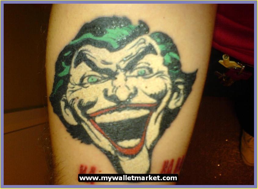 A Very Happy Joker Tattoo Design