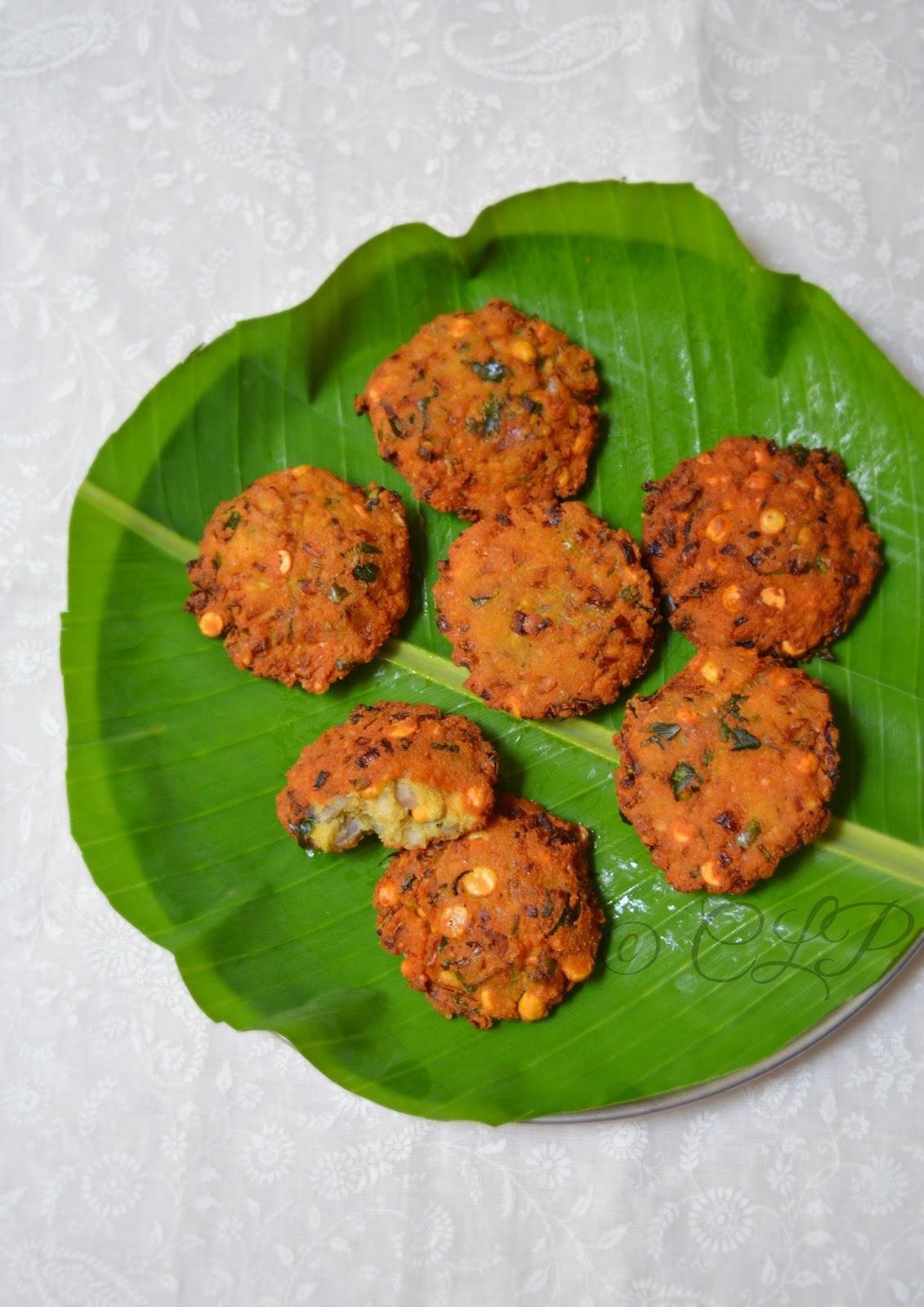 Tamil snack recipe - Masala Vadai