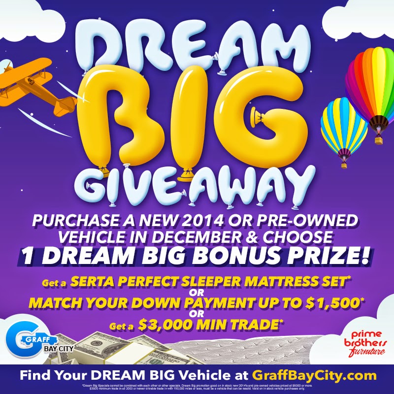 DREAM BIG Vehicle Offers at Graff Bay City