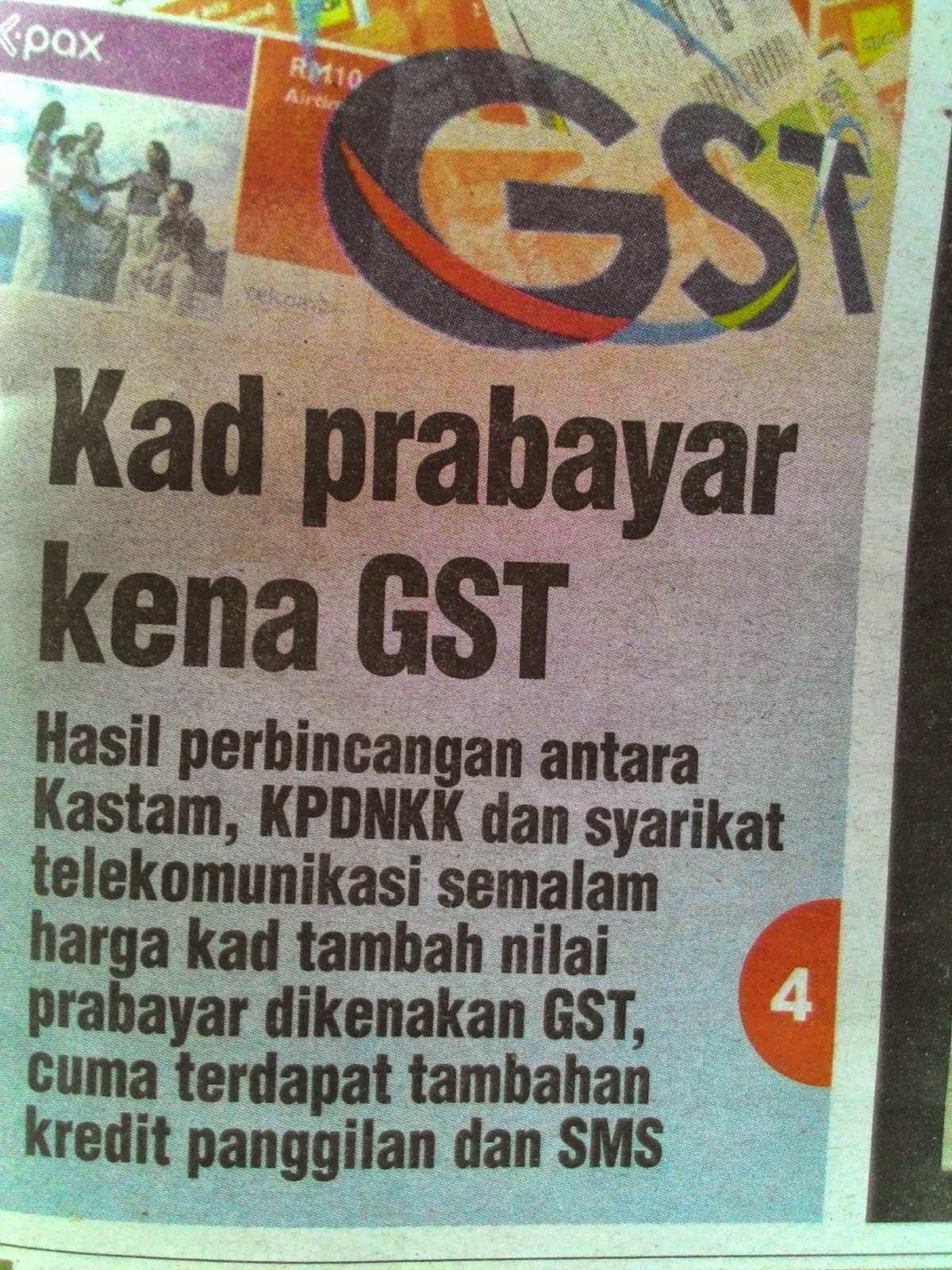 GST Prabayar Pun BN Tak Mampu Selesai Apa Lagi Janji P raya