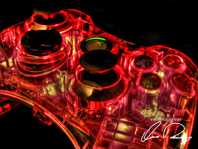 Xbox 360 Controller Game Games Gamer Gaming Red Light Lights Lighted LED