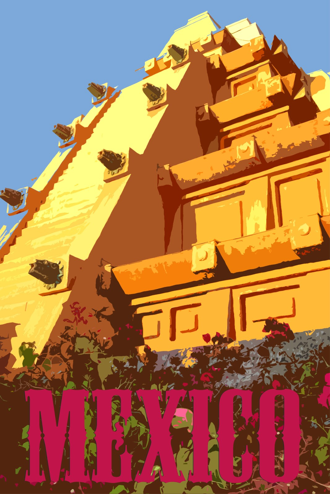 Brian's Daily Ramblings & Artistic Endeavors: Mexico Travel Poster