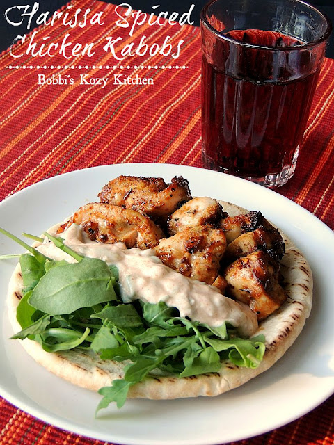 Harissa Spiced Chicken Kabobs - These spicy chicken kabobs bring just ...