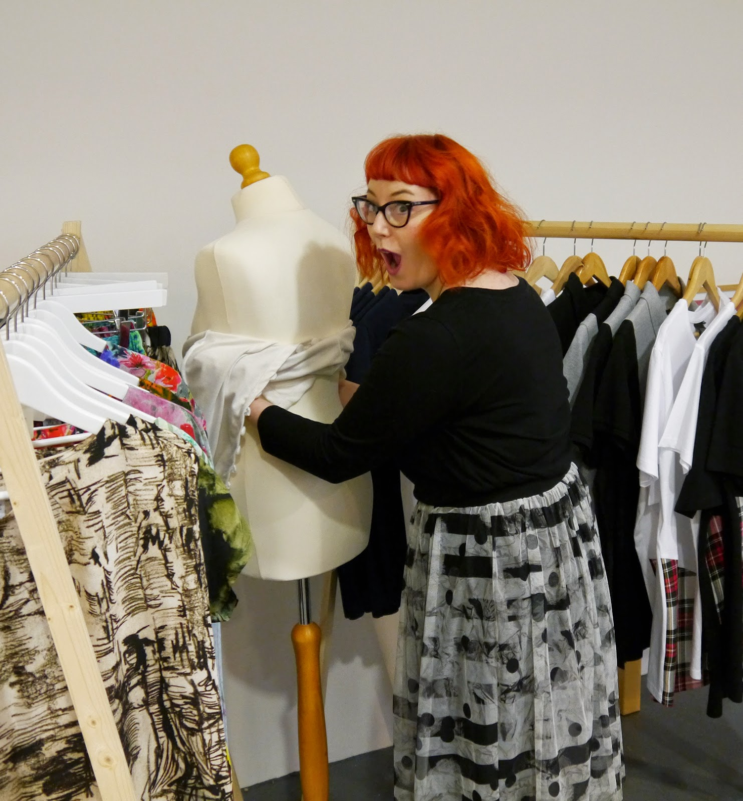 Wear Eponymous presents The Wardrobe, Glasgow Pop Up Shop, Glasgow Fort Festive Outfit Inspiration, Scottish Bloggers, Red head, ginger