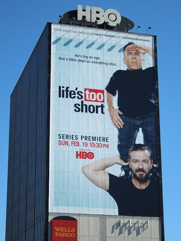 Life's Too Short HBO billboard
