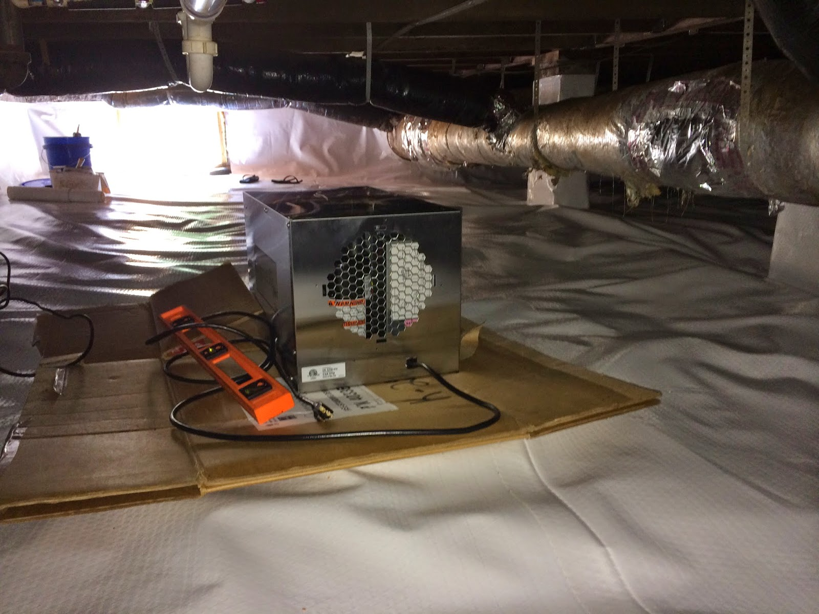 happyleehome: diy crawl space encapsulation on a budget: day 6