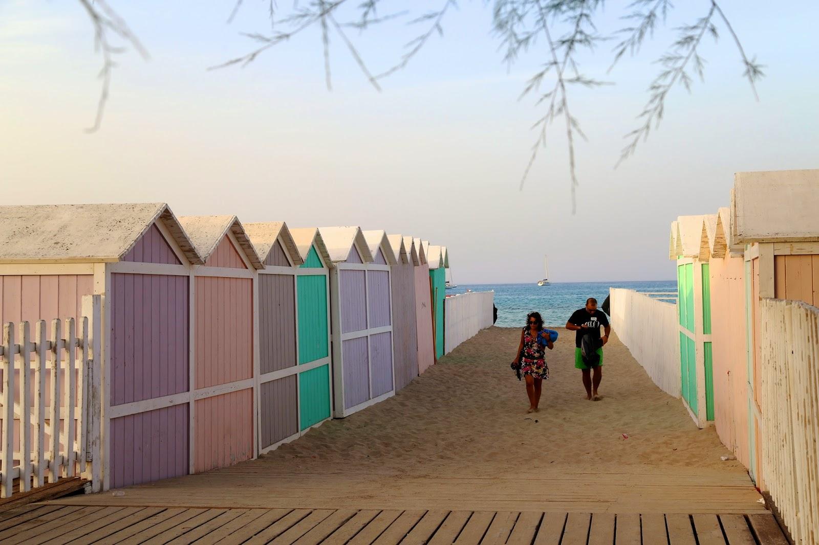 Beach huts, Mondello, Sicily