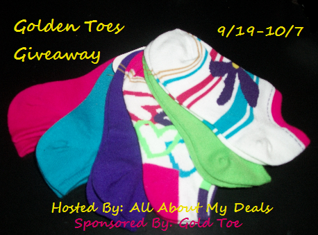 Enter to win a 3 pack of Gold Toe Children's Socks. Ends 10/7.