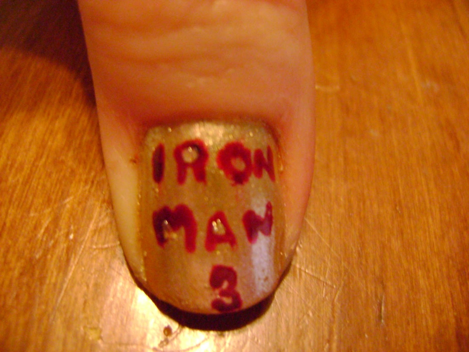 My Nail Art Hobby: Iron Man 3