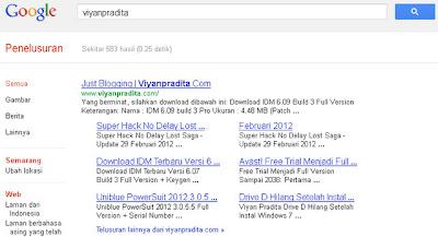Cara Mendapatkan Site Link Dari Google