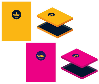 The Beatles Yellow Submarine Print Set Folio Case by Tom Whalen - Standard and Pink Variant Editions