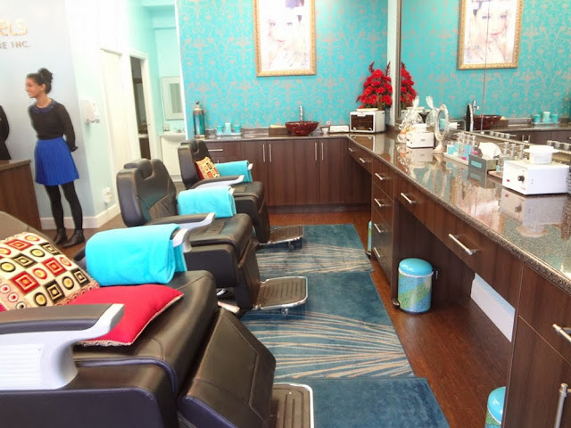 Salon chairs inside 4 Angels Beauty Care