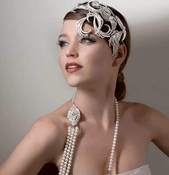 Beautiful head pieces form Stephanie Browne Vintage Bride