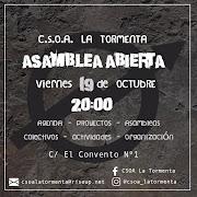 Asamblea Abierta - C.S.O.A. La Tormenta