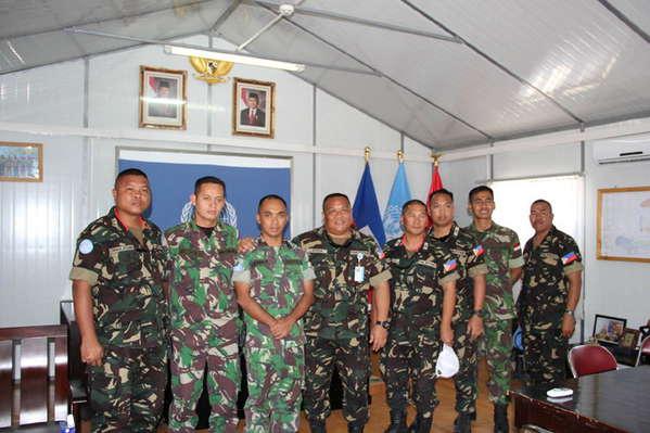 Komandan Kompi Filipina Kunjungi Markas Satgas Kizi TNI di Haiti
