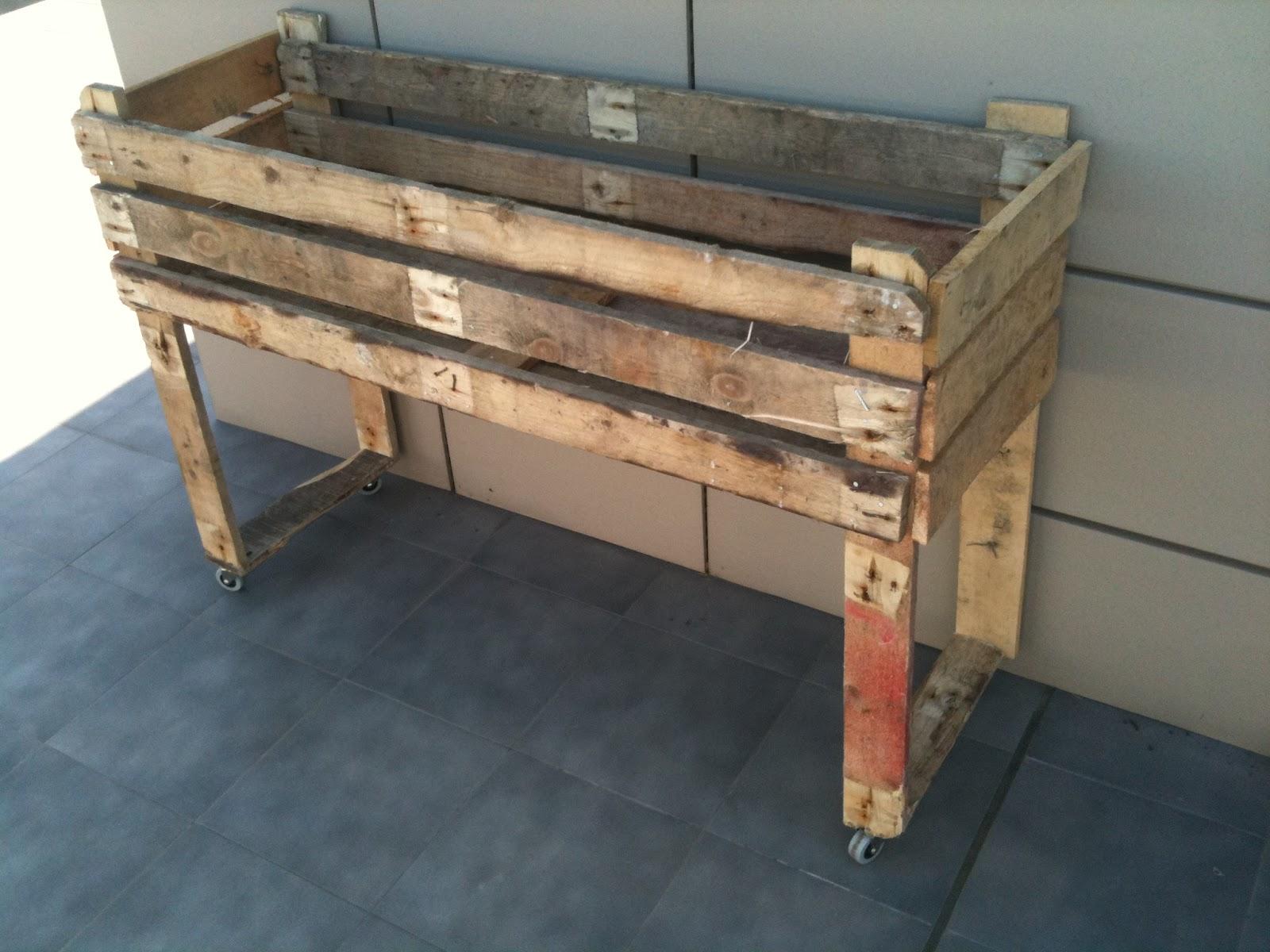Con min sculas mesa de cultivo casera - Mesa para huerto urbano ...