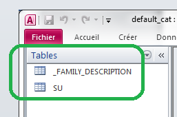 Table MS-Access