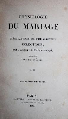 H. de Balzac : La Physiologie du mariage ou méditations sur le bonheur et le malheur conjugal (1834). Rare seconde édition. dans Bibliophilie, imprimés anciens, incunables mariage