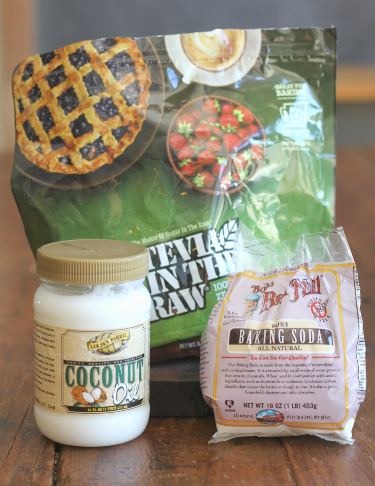 Ingredients for Homemade Toothpaste made with Golden Barrel Coconut Oil