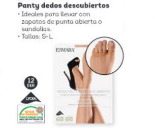 panty dedos descubiertos Lidl