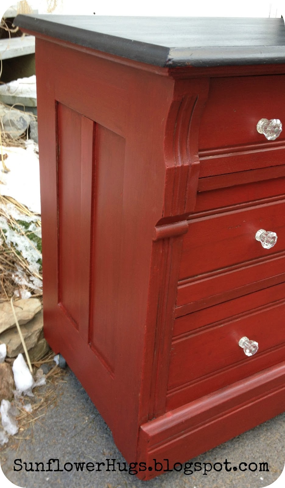 dresser painted red images
