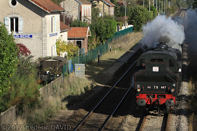 train vapeur campagne circulation vintage locomotive 141 TB 407 AJECTA Seine-et-Marne