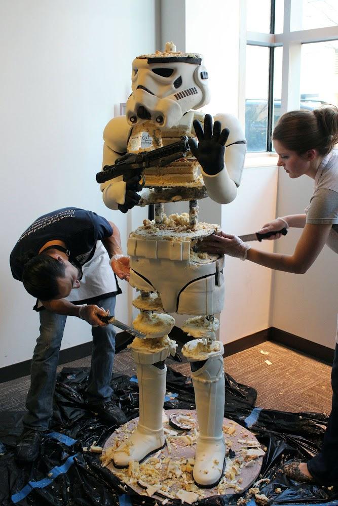 Stormtrooper Cake made by Amanda Oakleaf Cakes Boston Wedding Cakes