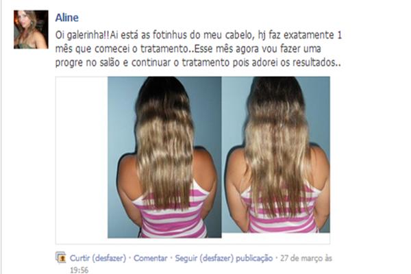 Os cabelos da Aline