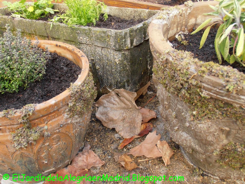 El jard n de la alegr a c mo envejecer macetas de barro for Jardines pequenos con piedras y macetas